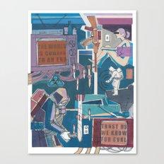 News Canvas Print