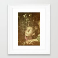 child Framed Art Prints featuring Child by Adrian Rosu
