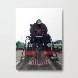 Railway locomotive, wagons in the train wagon Metal Print