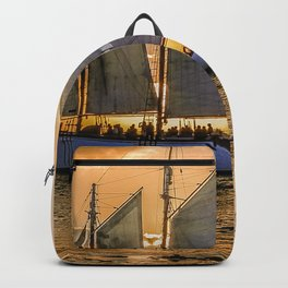 Sunset Sail and Plane Backpack