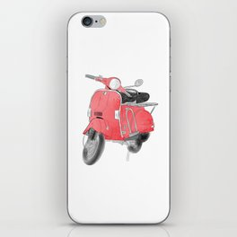 Red moto iPhone Skin