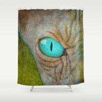 sphynx Shower Curtains featuring Sphynx by BruceStanfieldArtist.DarkSide