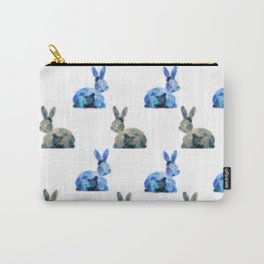 Floral Bunny - white Carry-All Pouch