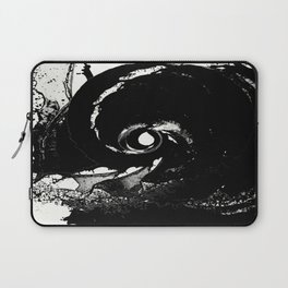 Whirlpool Of Black Laptop Sleeve