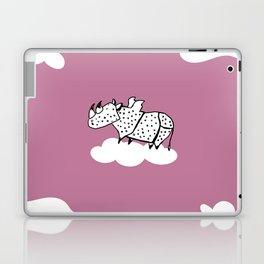 Flying Rhinoceros by Amanda Jones Laptop & iPad Skin