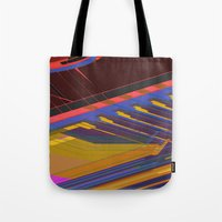 data Tote Bags featuring Data Path by dBranes