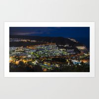puerto rico Art Prints featuring Puerto Rico by night  by Rob Hawkins Photography