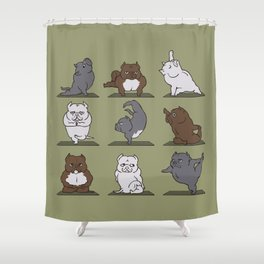 The American Bully Yoga Shower Curtain
