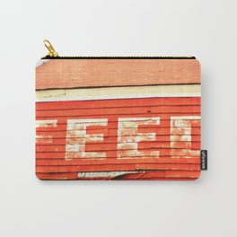 rustic feed sign Carry-All Pouch