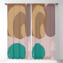 minimal shapes forms pattern Blackout Curtain