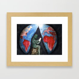 blood and suffer not me Framed Art Print