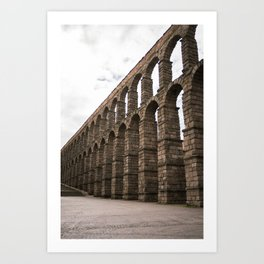 Roman aqueduct Art Print