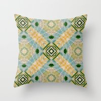 oasis Throw Pillows featuring Oasis by Ananas Art Shop