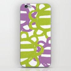 Fun Flowers Large purple green iPhone & iPod Skin