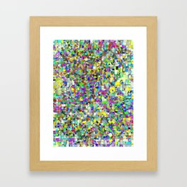 Da People Glitch Pattern Framed Art Print