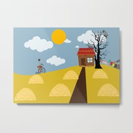 A hut on a hill Metal Print