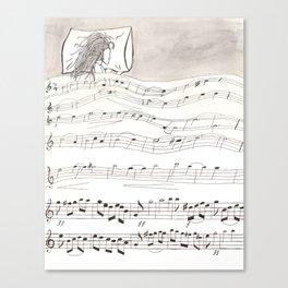 Sheet Music Canvas Print