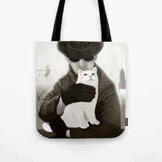 Cat and Alien Tote Bag