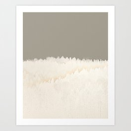 Pale Forest Abstract Art Print