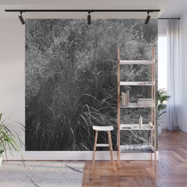 Black and white country forest Wall Mural