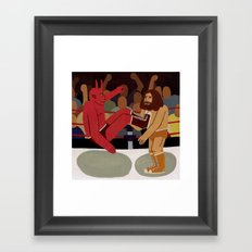 Fight Framed Art Print