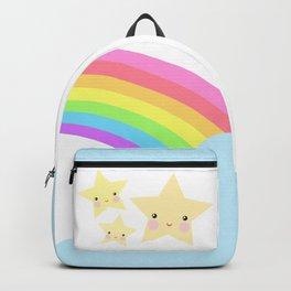 Rainbow, cloud and stars Backpack