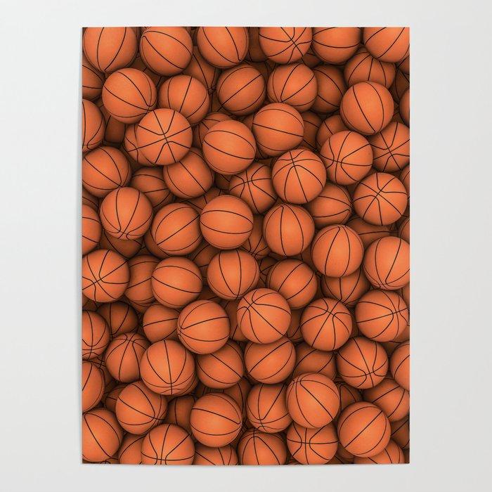 Basketballs Poster