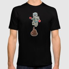 Poo jumping Mens Fitted Tee LARGE Black