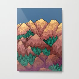 Natural Mountains Metal Print