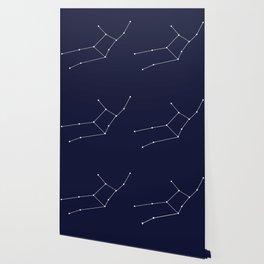 Virgo Astrology Star Sign Blue Minimal Wallpaper