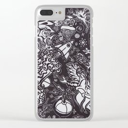 Galactic Conflict Clear iPhone Case