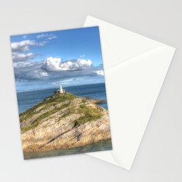 Mumbles Lighthouse Swansea Stationery Cards