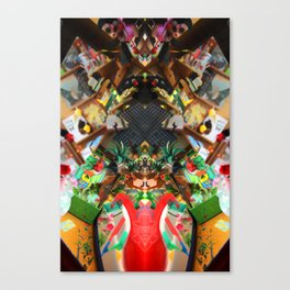toy shop dark Rorschach symmetry caleidoscope Canvas Print