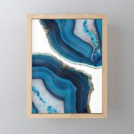 Blue Agate Framed Mini Art Print