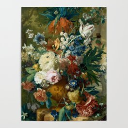 """Jan van-Huysum """"Flowers in a Vase with Crown Imperial and Apple Blossom"""" Poster"""