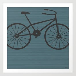 Grey Bike by Friztin Art Print