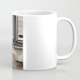 At the Zeppelin Port  Coffee Mug