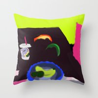 breakfast Throw Pillows featuring Breakfast by Robert Morris