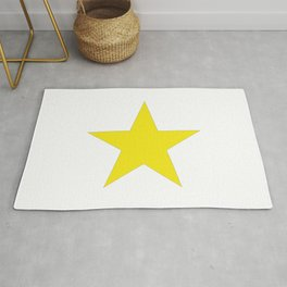 Yellow star on white Rug