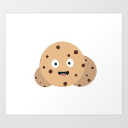 chocolate chips cookies Art Print