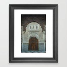 moroccan door Framed Art Print