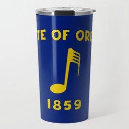 Musical Oregon State Flag Travel Mug