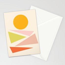 Enjoy morning sun & beautiful landscape (Abstract minimalism artwork) Stationery Cards