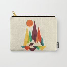 Bear In Whimsical Wild Carry-All Pouch