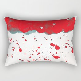 Red Red Clouds Rectangular Pillow