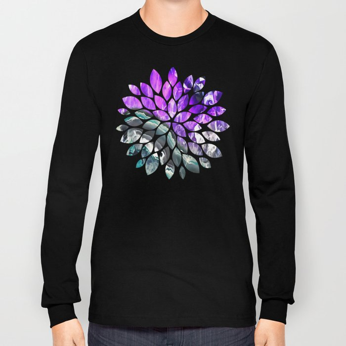 Purple Agate Crystal Long Sleeve T-shirt