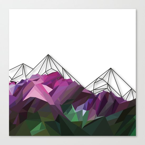 Crystal Mountains Canvas Print