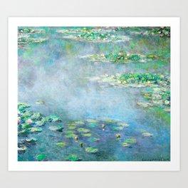 Monet Water Lilies / Nymphéas 1906 Art Print