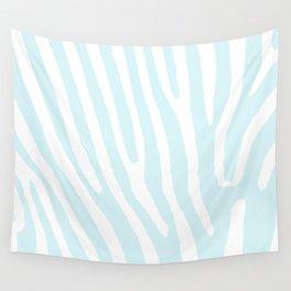 Blue Zebra Wall Tapestry