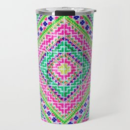 Hmong love square cross stitch Travel Mug
